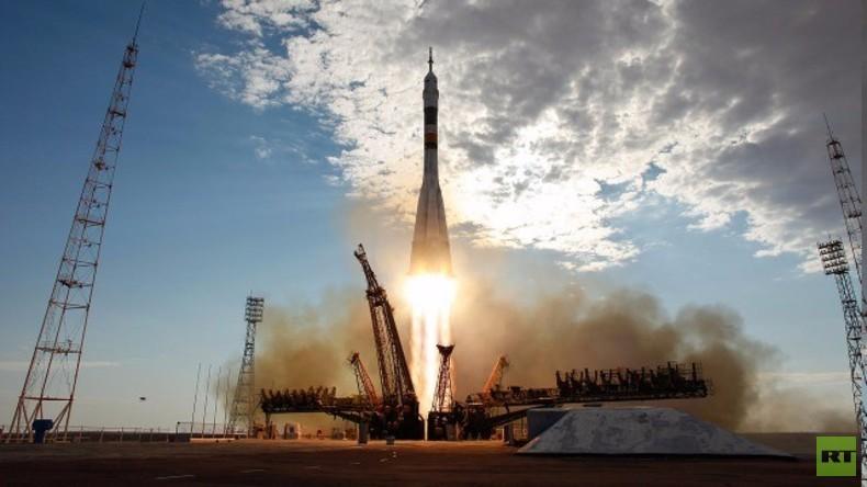 Live: Start der unbemannten Sojus-Rakete Progress 63P zur ISS