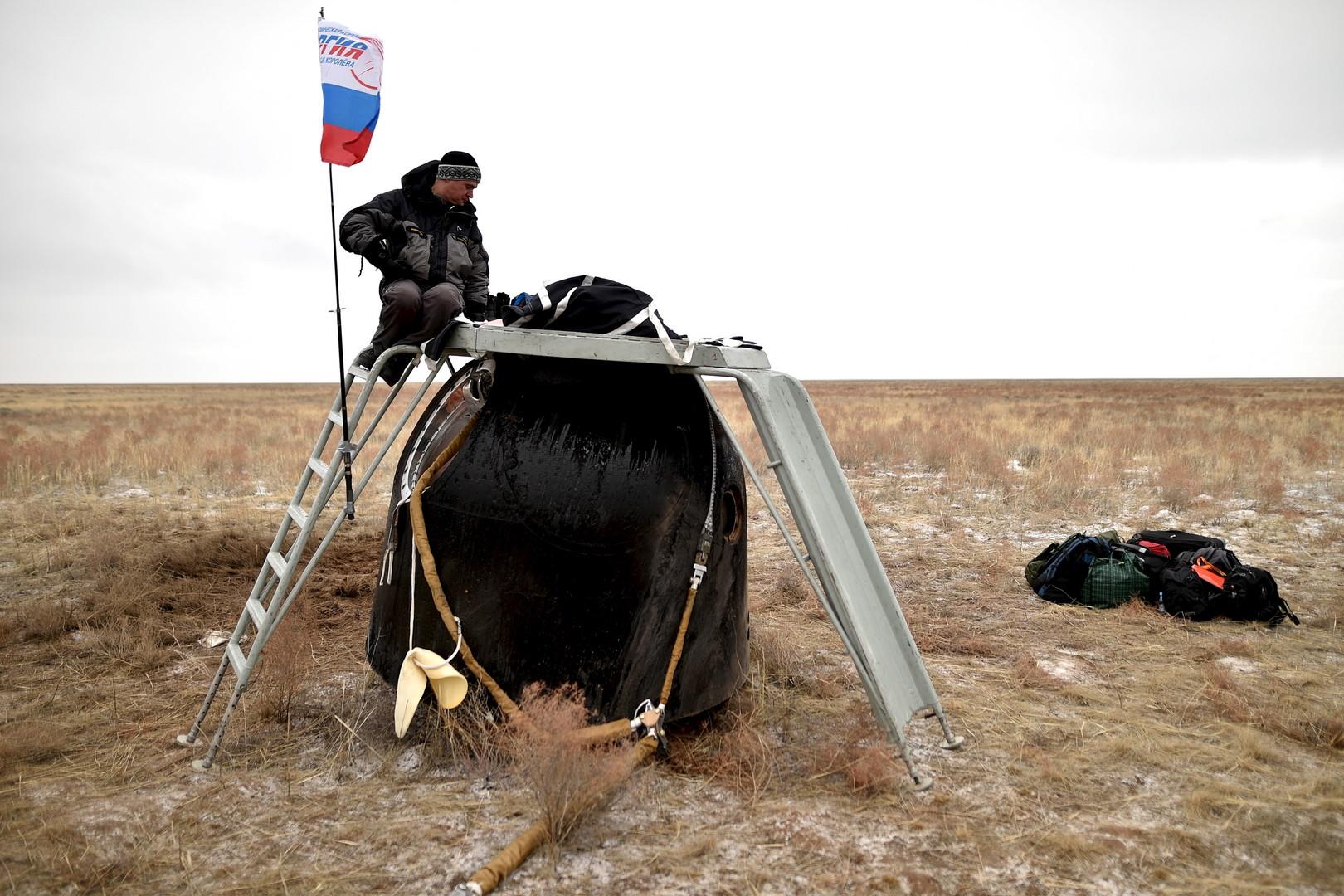 Die Raumsonde kurz nach der Landung.