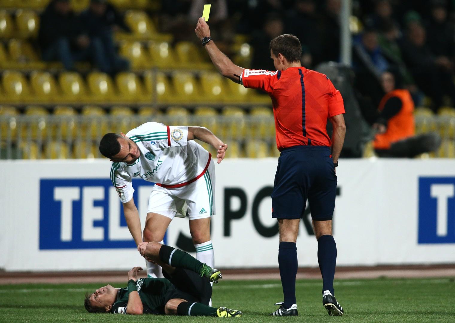 Tereks Rodolfo, (l.), im Spiel zwischen Krasnodar und Terek Grozny.