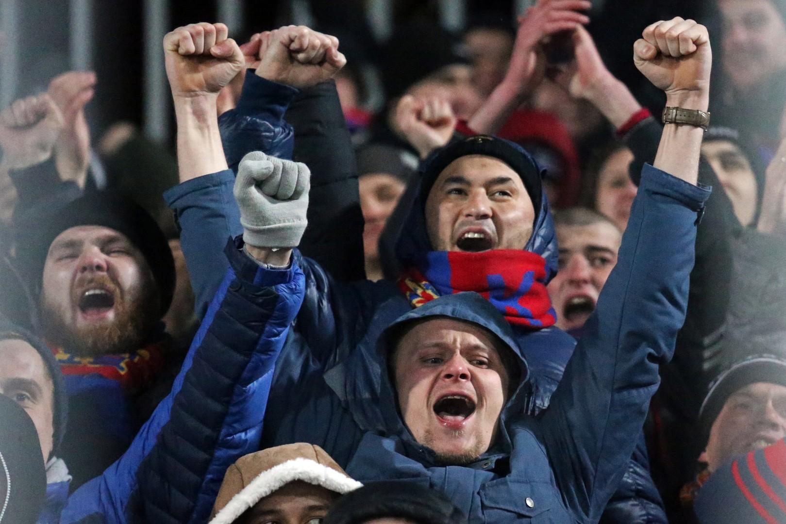 Fast immer Grund zum Jubeln: Fans des ZSKA Moskau