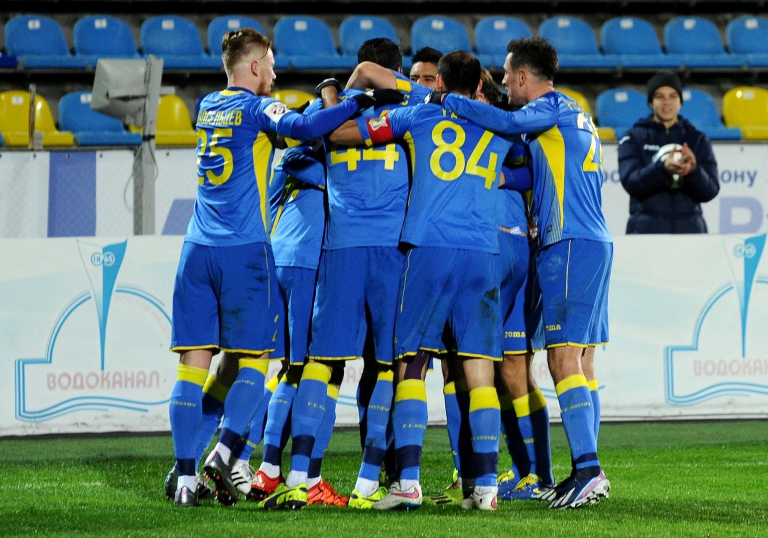 Haben diese Saison öfters Grund zum Jubeln: Die Spieler des FC Rostov