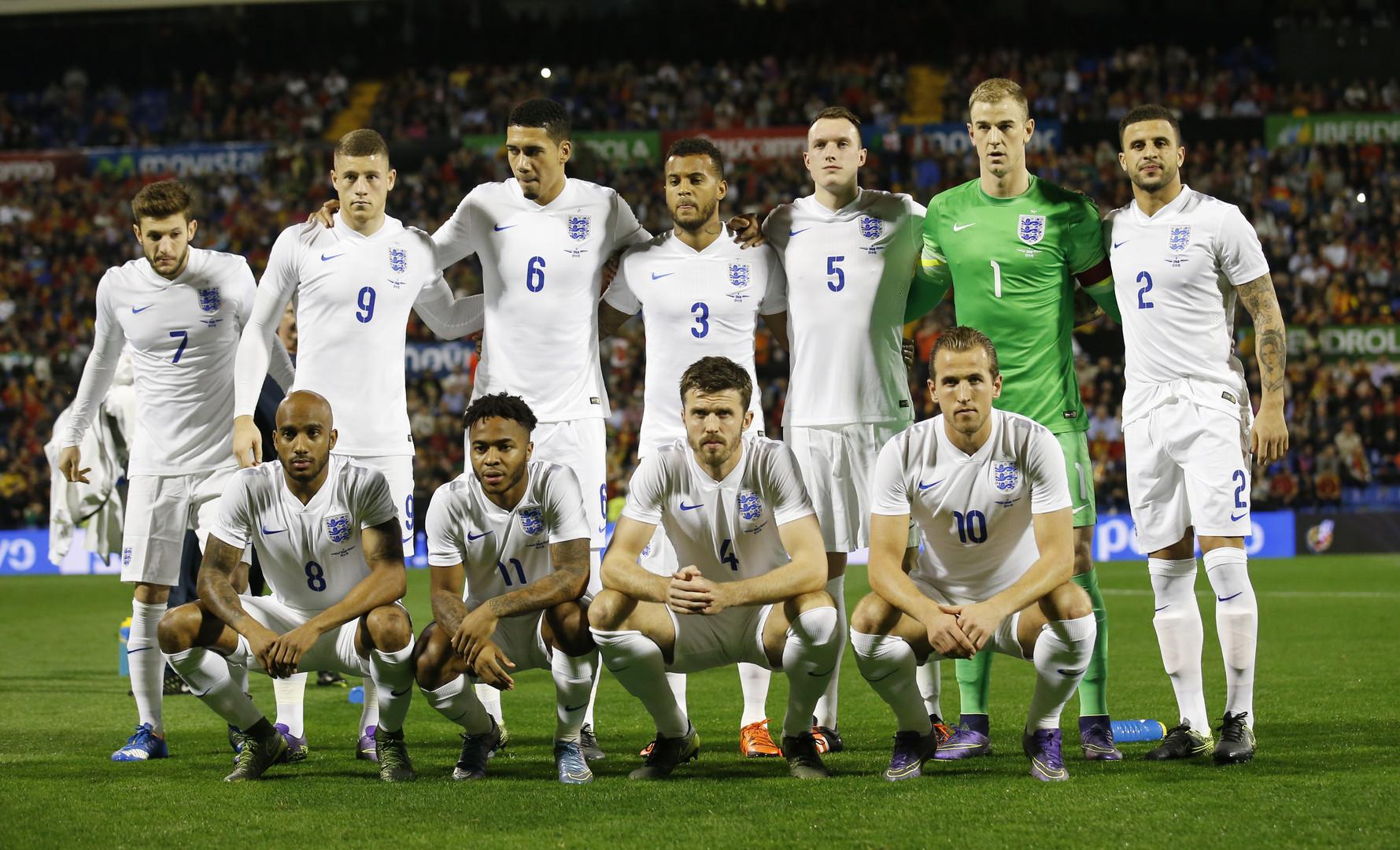 Englands Elf beim Freundschaftsoiel gegen Spanien.