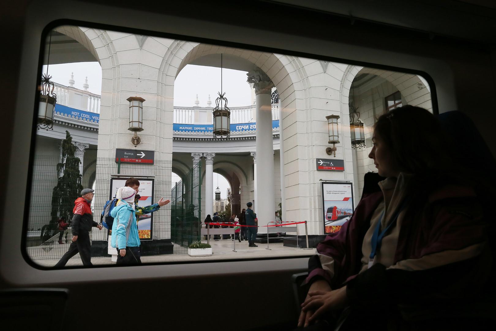 Blick auf den Hauptbahnhof von Sotschi