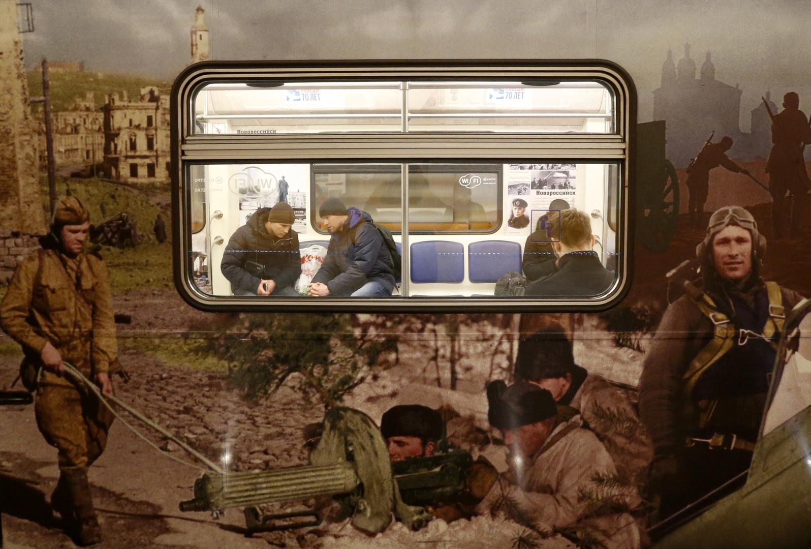 Auch die Moskauer U-Bahnen sind schön gestaltet.