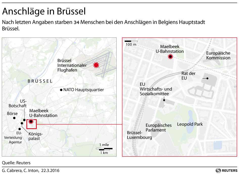 Grafik des Tages: Anschläge in Brüssel
