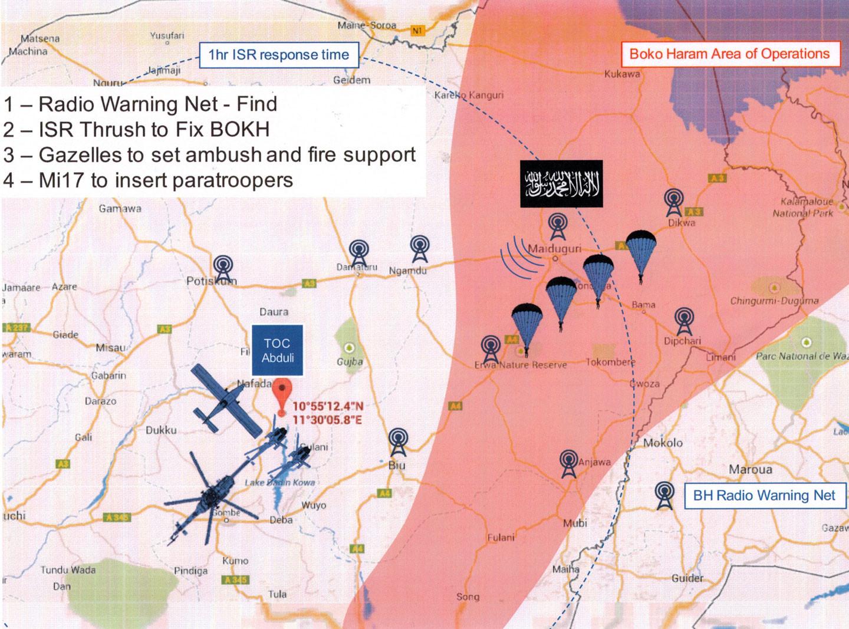 Μέρος του έργου Νοέμβριο Erik Πρίγκιπα Πρόταση για τη Νιγηρία να ξεκινήσει αεροπορικές επιδρομές στη βορειοανατολική της χώρας σε Boko Haram.
