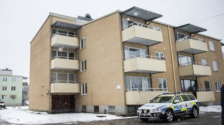 Unwirtlich aber teuer: Asylunterkunft in Lindesberg, Schweden März 2016