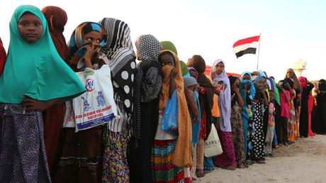 Jemenitische Flüchtlinge in einem Flüchtlingslager in Somalia's Hauptstadt Mogadischu, Dezember 2015.
