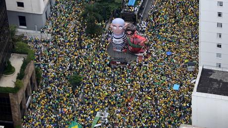 Massenproteste in Brasilien am vergangenen Sonntag