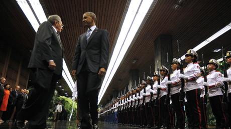 US-Präsident Barack Obama trifft Kubas Präsident Raul Castro