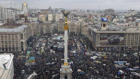 Der Kiewer Maidan im Dezember 2014