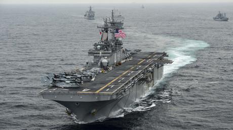 Die USS Boxer bei einem Manöver im Östlichen Meer im März 2016.