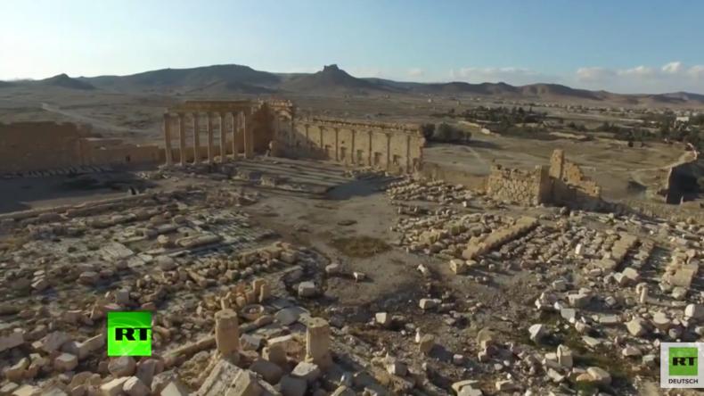Syrien: Palmyra aus der Vogelperspektive nach der Befreiung vom IS