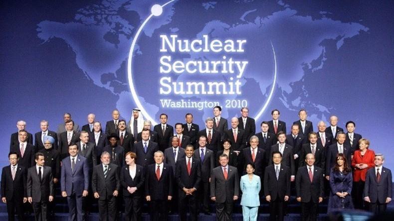 Archivbild: Erster Nukleargipfel in Washington am 13. April 2010.