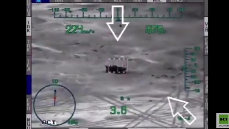 """Einzigartiges Video: Russlands Panzerabwehrhubschrauber """"Mi-28N"""" zerstört IS-Objekte nahe Palmyra"""