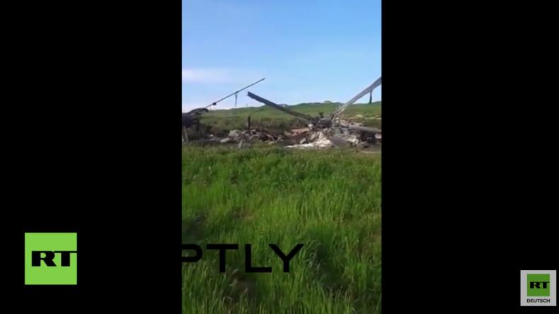 Bergkarabach: Aserbaidschanischer Hubschrauber während der Kämpfe abgeschossen
