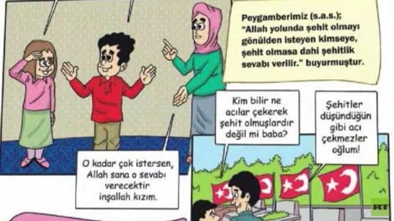 Türkisches 'Ministerium für Religion' wirbt in Kinder-Comics für Märtyrertum