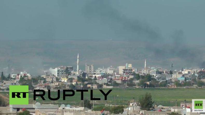 Syrien: Journalisten filmen türkische Angriffe in Nusaybin und geraten angeblich selbst unter Feuer