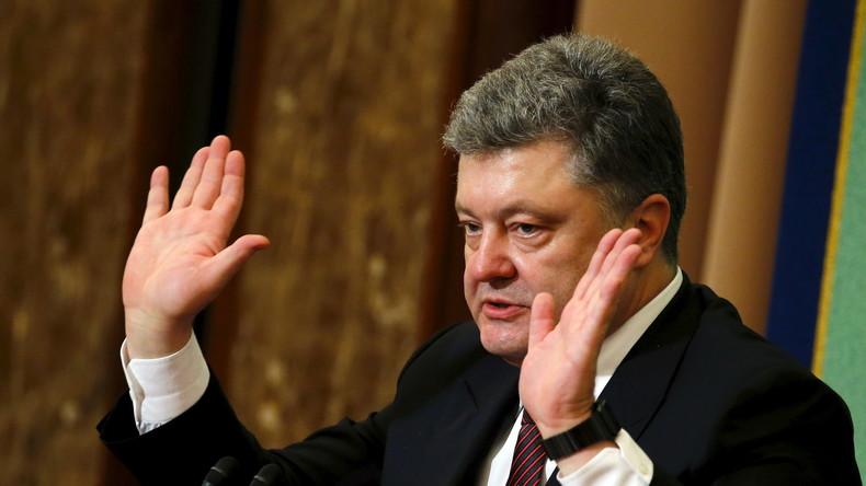 """Poroschenko: """"Das Referendum in den Niederlanden ist ein Angriff auf die europäischen Werte"""""""