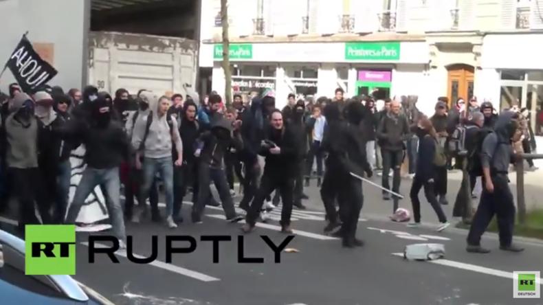 Paris: Protest gegen die geplante Arbeitsrechtsreform geht weiter