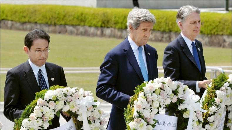 Keine Entschuldigung für Hiroshima bei erstem Besuch eines US-Außenministers am Atombomben-Mahnmal
