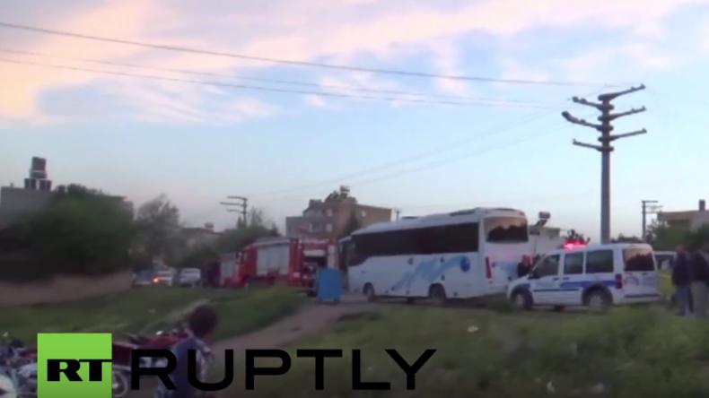 Türkei: Raketen des IS aus Syrien sollen türkische Stadt getroffen haben – 18 Verletzte