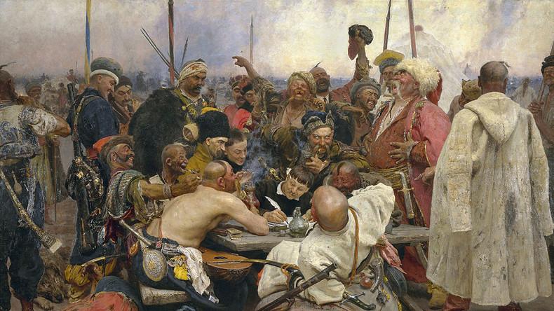 Die Saporoger Kosaken schreiben dem türkischen Sultan einen Brief (Ilja Repin), gemeinfrei