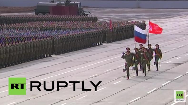 Russland: Erste Proben für Siegesparade 2016 in Moskau gestartet