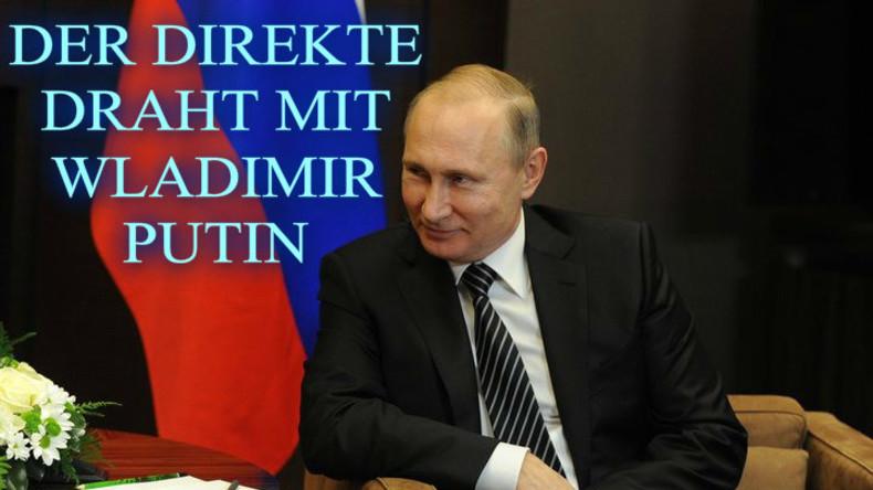 """Liveupdates: Der """"Direkte Draht"""" - Wladimir Putin stellt sich den Fragen aus aller Welt"""