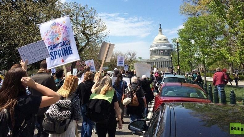 """""""Democracy Spring"""" geht weiter - Entsteht in den USA eine neue Protest-Bewegung?"""