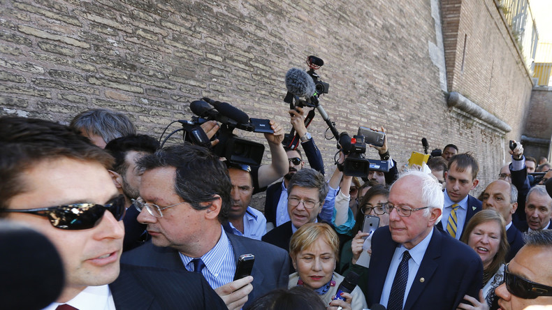 Live aus Rom: Sozialistischer US-Präsidentschaftskandidat Bernie Sanders besucht den Vatikan
