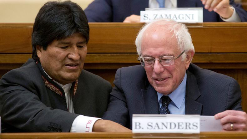Auflauf vor dem Vatikan: Bernie Sanders besucht Rom