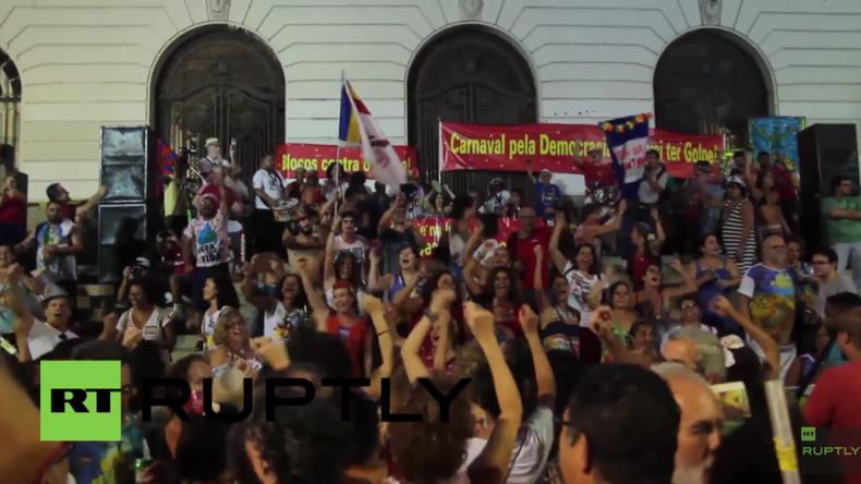 Live: Massenproteste in Brasilien, während Parlament über Dilma Rousseffs Amtsenthebung abstimmt