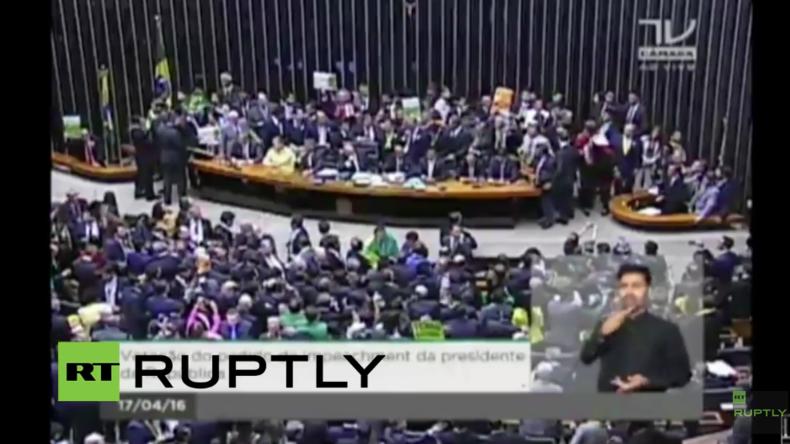 Live: In Brasilien stimmt der Nationalkongress über Amtsenthebungsverfahren für Rousseff ab