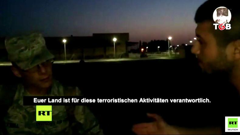 Türkei: Ihr habt den Terror zu uns gebracht! TGB-Aktivist will US-Soldaten Tüte über den Kopf ziehen