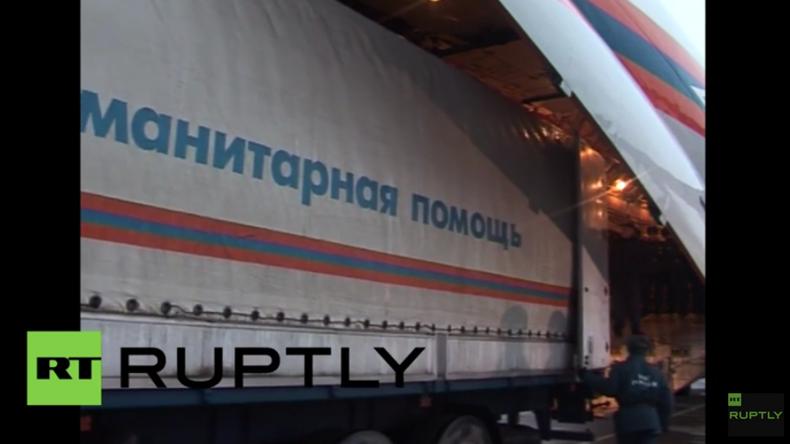 Russisches Katastrophenschutzministerium sendet 30 Tonnen Hilfsgüter nach Ecuador für Erdbebenopfer