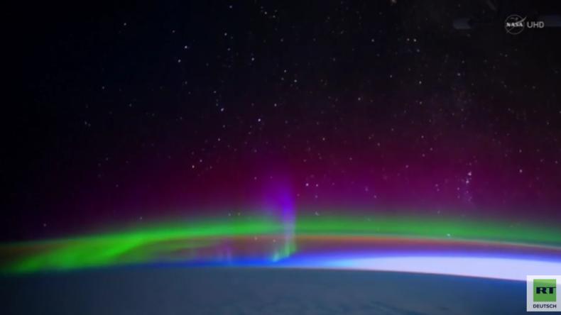 """""""Magische Schleier"""" - ISS-Aufnahmen zeigen Polarlichter in ihrer ganzen Pracht"""