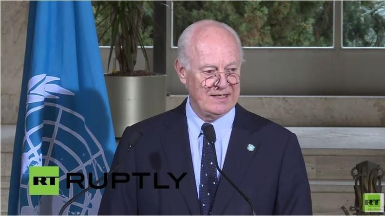 Live: Syrien-Gespräche fortgesetzt - Pressebriefing von Staffan de Mistura