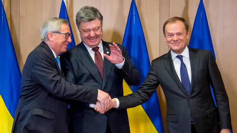 Zumindest Poroschenko freut sich...