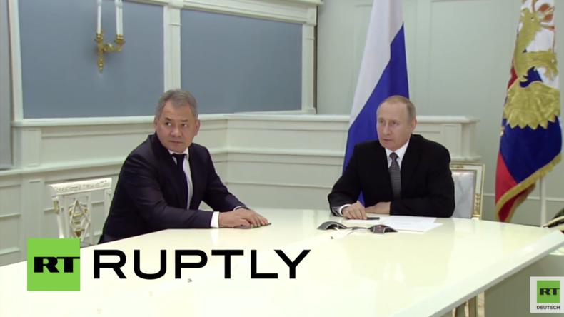 Historisches Palmyra komplett entmint - Putin informiert sich über Erfolge und weitere Operationen