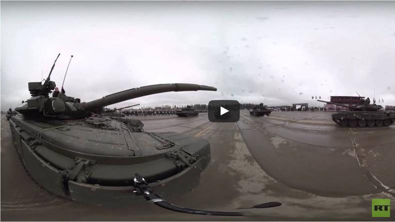 Exklusiv: RTs neue 360 Grad-Videos - Im Panzer mitten in der Probe für Siegesparade in Moskau dabei
