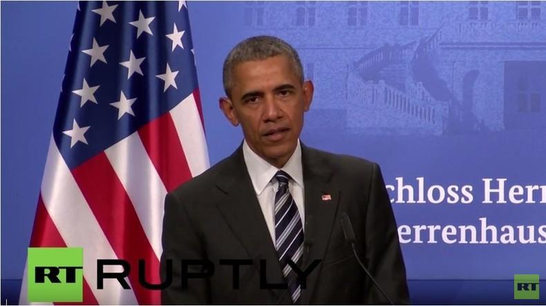 Obama in Hannover: Russland hat 'aggressive Haltung'