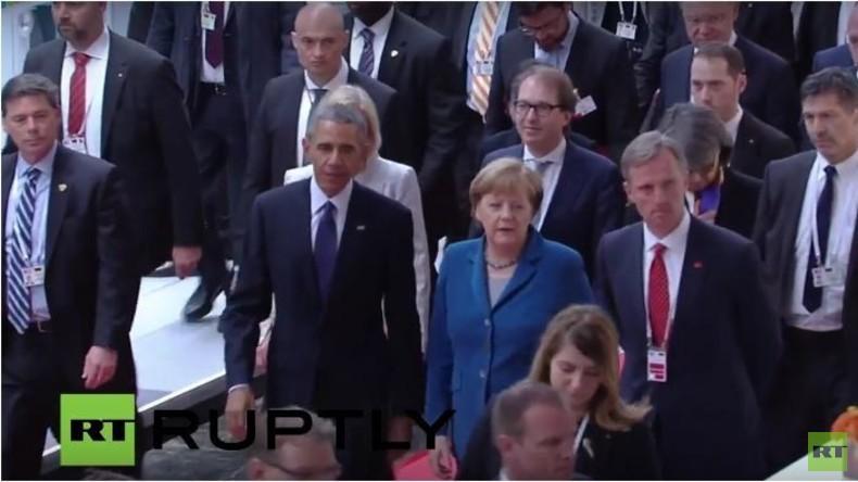 Live: Merkel trifft Obama, Cameron, Renzi und Hollande in Hannover