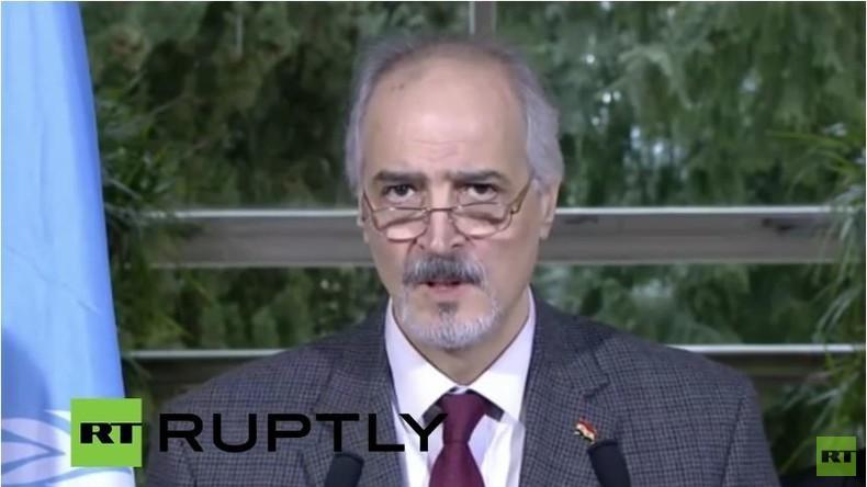 Live: Syrien-Gespräche vor dem Ende? - Pressebriefing von Bashar al Jaafari