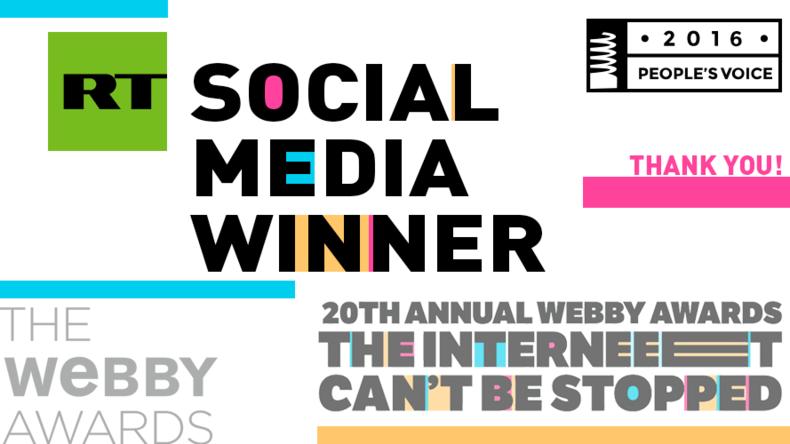 """""""And the winner is.."""" - RT gewinnt Internet-Oscar für besten Social Media-Auftritt"""