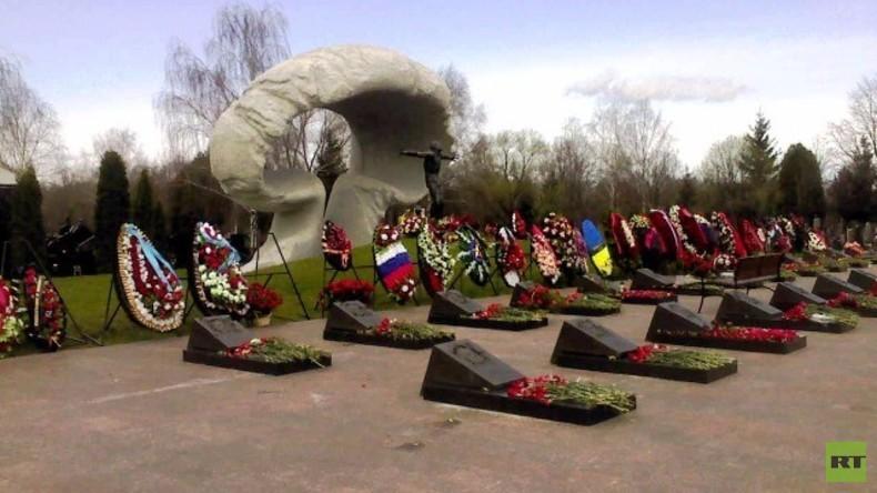 Gedenken an Tschernobyl-Katastrophe zum 30. Jahrestag - tote Feuerwehrleute geehrt