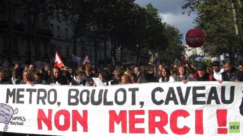 Live: Paris - Gewerkschaften und Studenten protestieren gegen Arbeitsmarktreformen