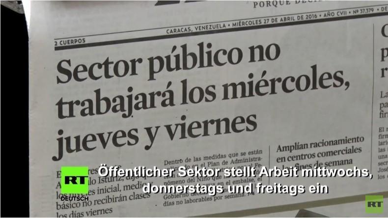 Venezuela: Regierung beschließt Zwei-Tage-Woche für Öffentlichen Dienst wegen Stromkrise