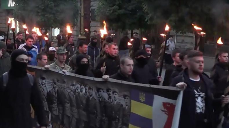 """Ukraine: Nazi-Verherrlichung in Iwano-Frankiwsk - Aufmarsch """"zu Ehren"""" der ukrainischen SS-Division"""