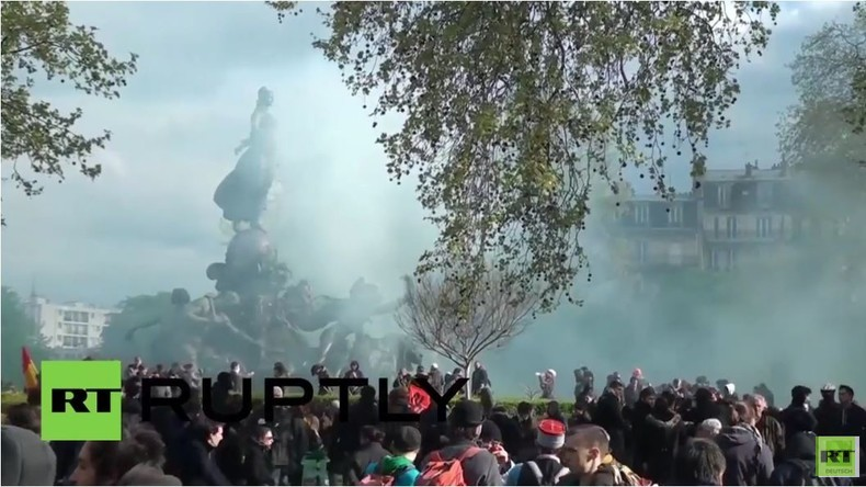 Frankreich: Polizei setzte Tränengas gegen Gegner der Arbeitsmarktreform ein